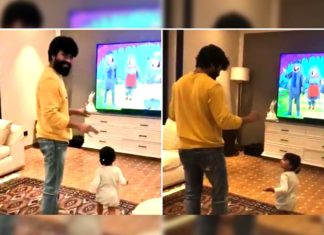 Ram Charan dances with Navishka