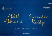 #Akhil5: Akhil Akkineni- Surender Reddy film officially announced
