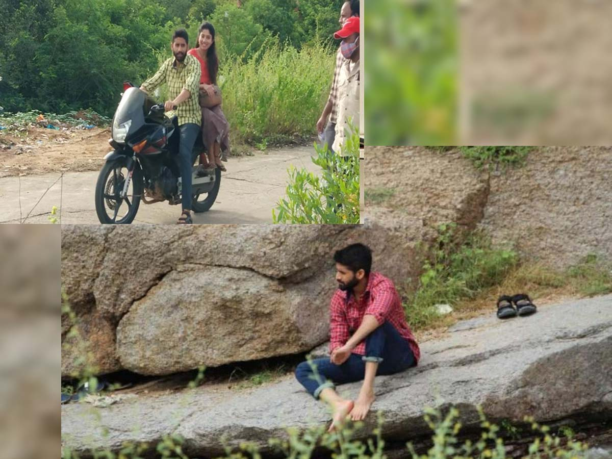 Naga Chaitanya with Sai Pallavi at Bodakonda Waterfalls