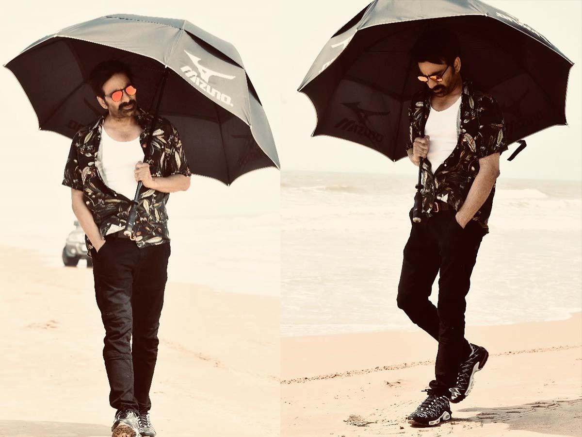 Ravi Teja stylish look in sunglasses