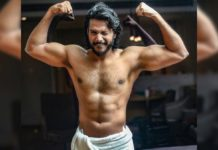 Shirtless Sundeep Kishan in towel