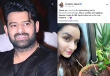 Shraddha Kapoor accepts Prabhas Challenge after three months
