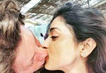 Shriya Saran steamy lip lock