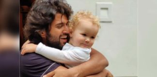 Vijay Deverakonda holds a cute baby in his arms