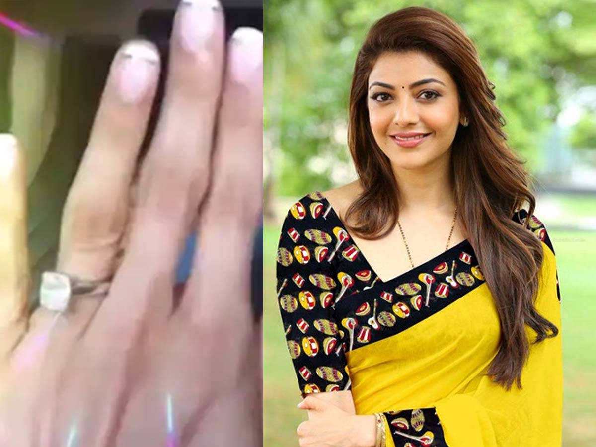 Kajal Aggarwal flaunts diamond engagement ring