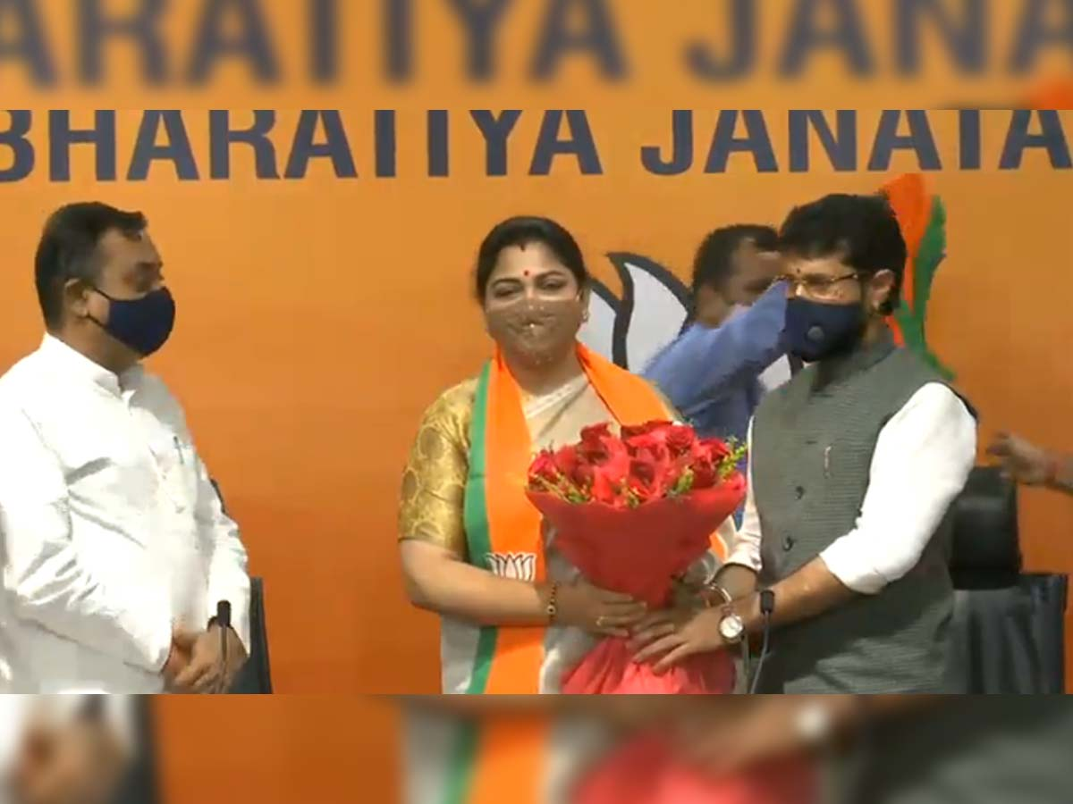 Khushbu Sundar joins BJP