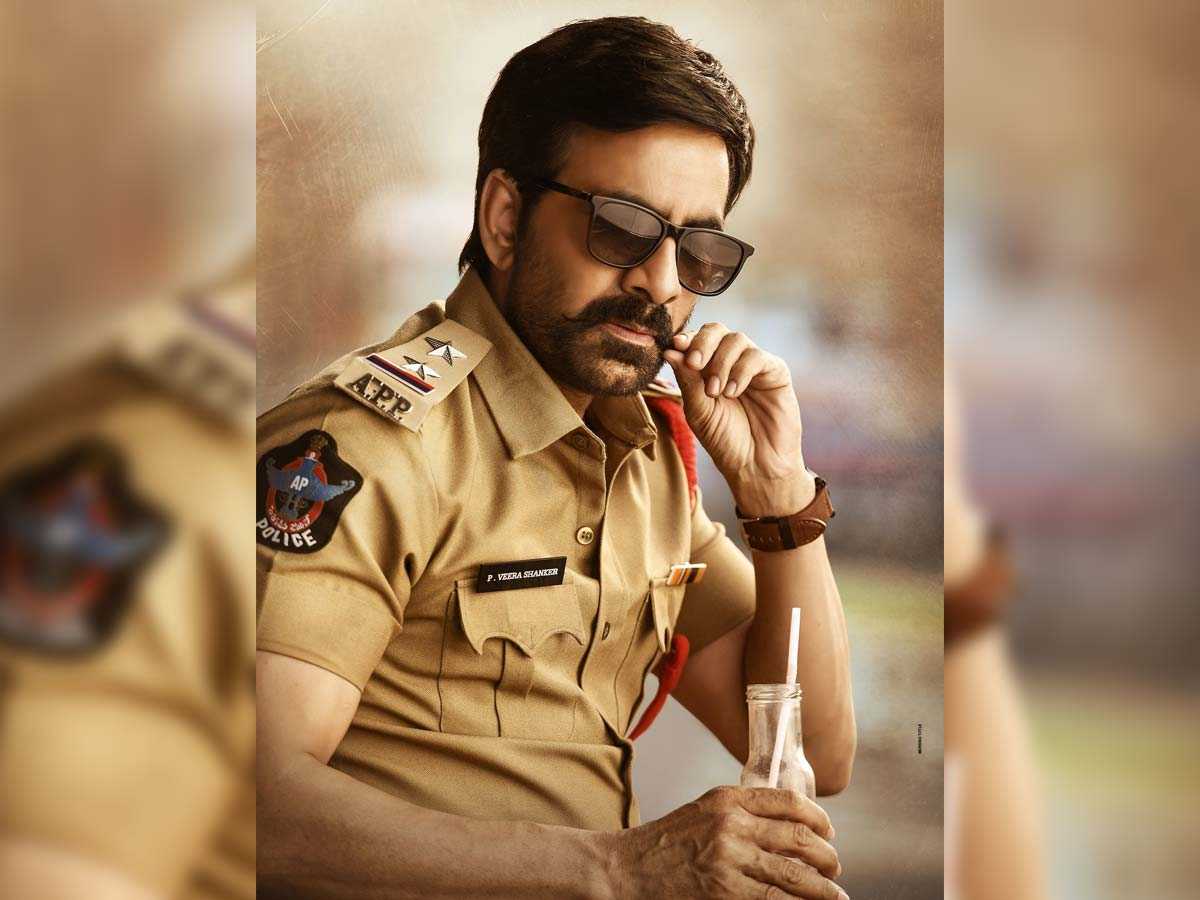 Mass Maharaja back in action! Ravi Teja stylish entry in Police Station