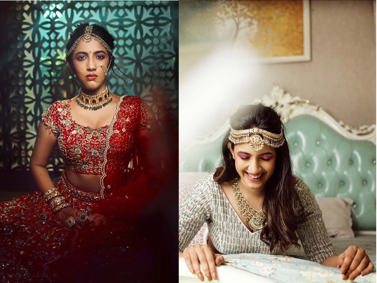 Niharika Konidela bride-to-be look in Ashwini Reddy outfits