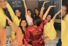 Pyjama party: Friends blow kisses to Kajal Aggarwal