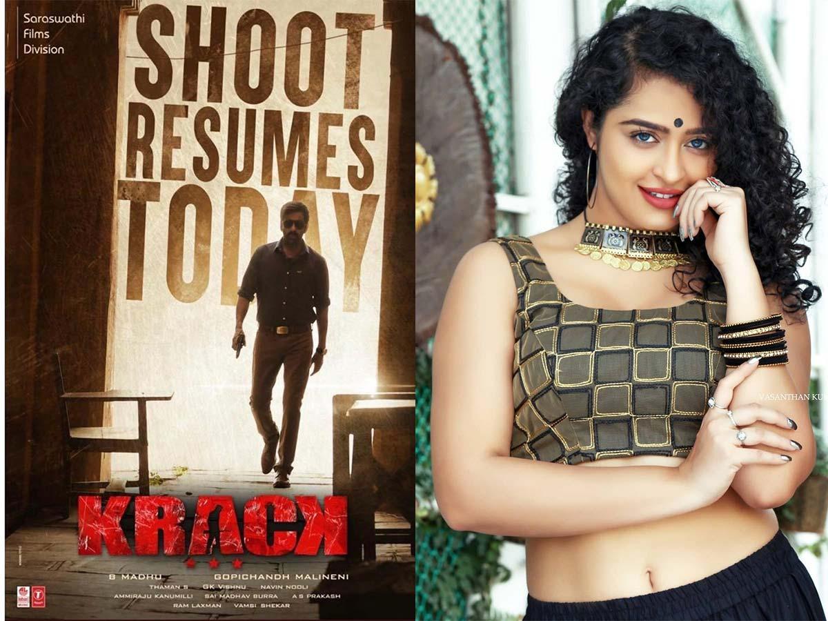 RGV girl joins Ravi Teja movie shoot