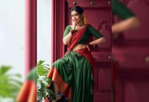Raashi Khanna village belle look in half saree