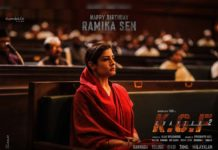 Raveena Tandon look Ramika Sen from KGF Chapter2