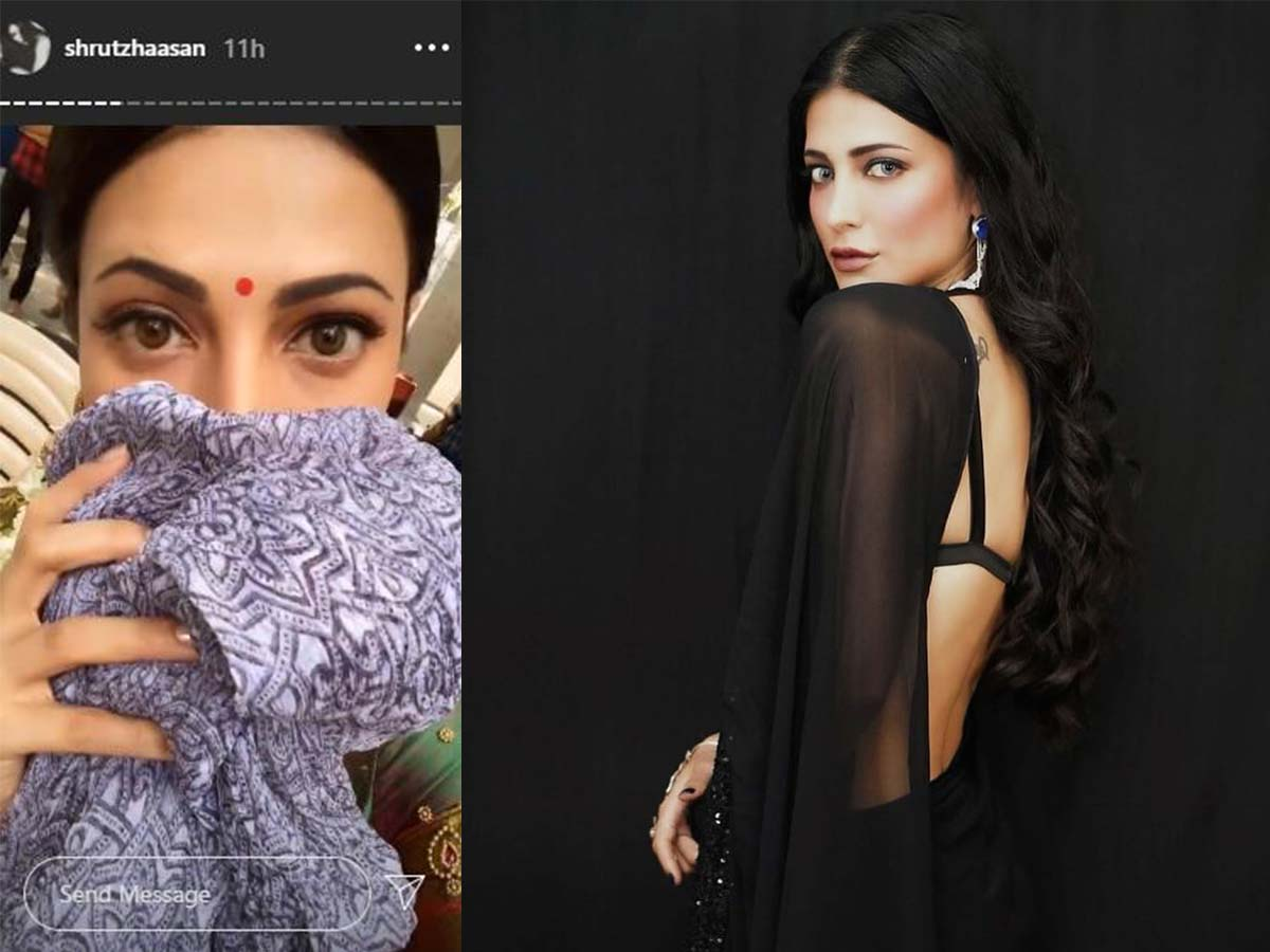 Shruti Haasan Krack character look: Holds a cloth on her half face