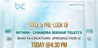 Title and Pre-Look of  Nithiin from Chandrasekhar Yeleti film today