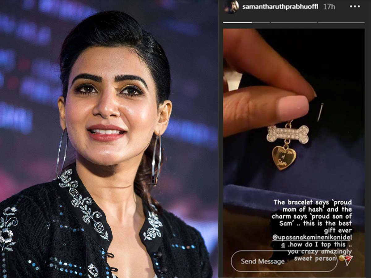Upasana special gift for Samantha and Hash