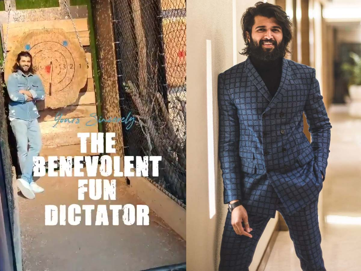 Vijay Deverakonda hits bullseye with an axe