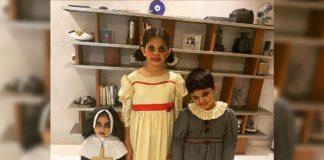 Halloween fun: Allu Arha in The Nun avatar and Allu Ayaan in Pennywise getup