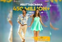 Allu Arjun Butta Bomma clocks 450 million views and 3 million likes