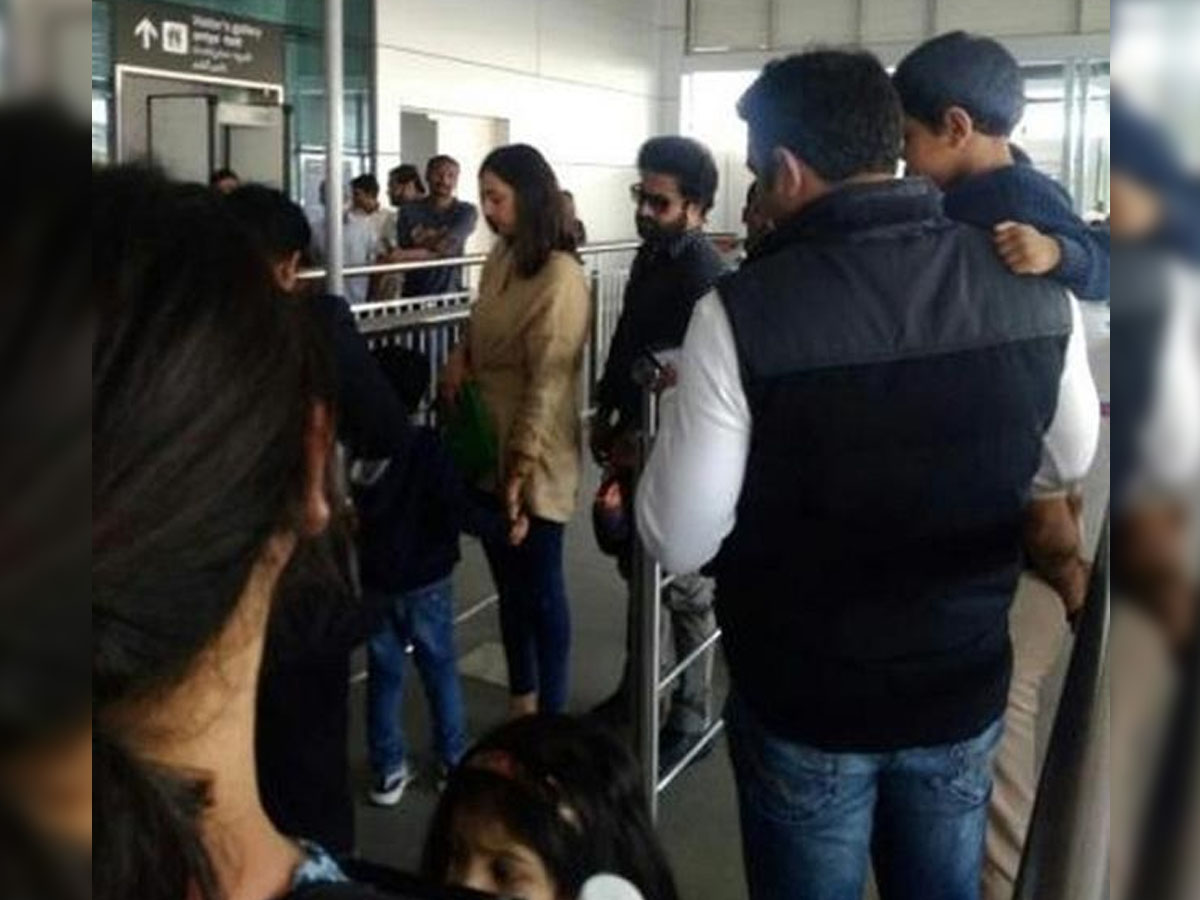 Jr NTR in Dubai with his family for a brief vacation
