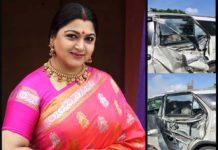 Khushboo Sundar car meetswith anaccident