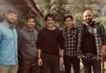 Nagarjuna says good bye to Wild Dog team