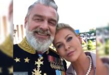 Ray Stevenson and Alison Doody from Rajamouli RRR sets