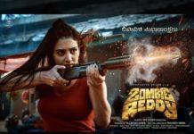 Zombie Reddy Daksha Nagarkar is firing with Assault Rifle