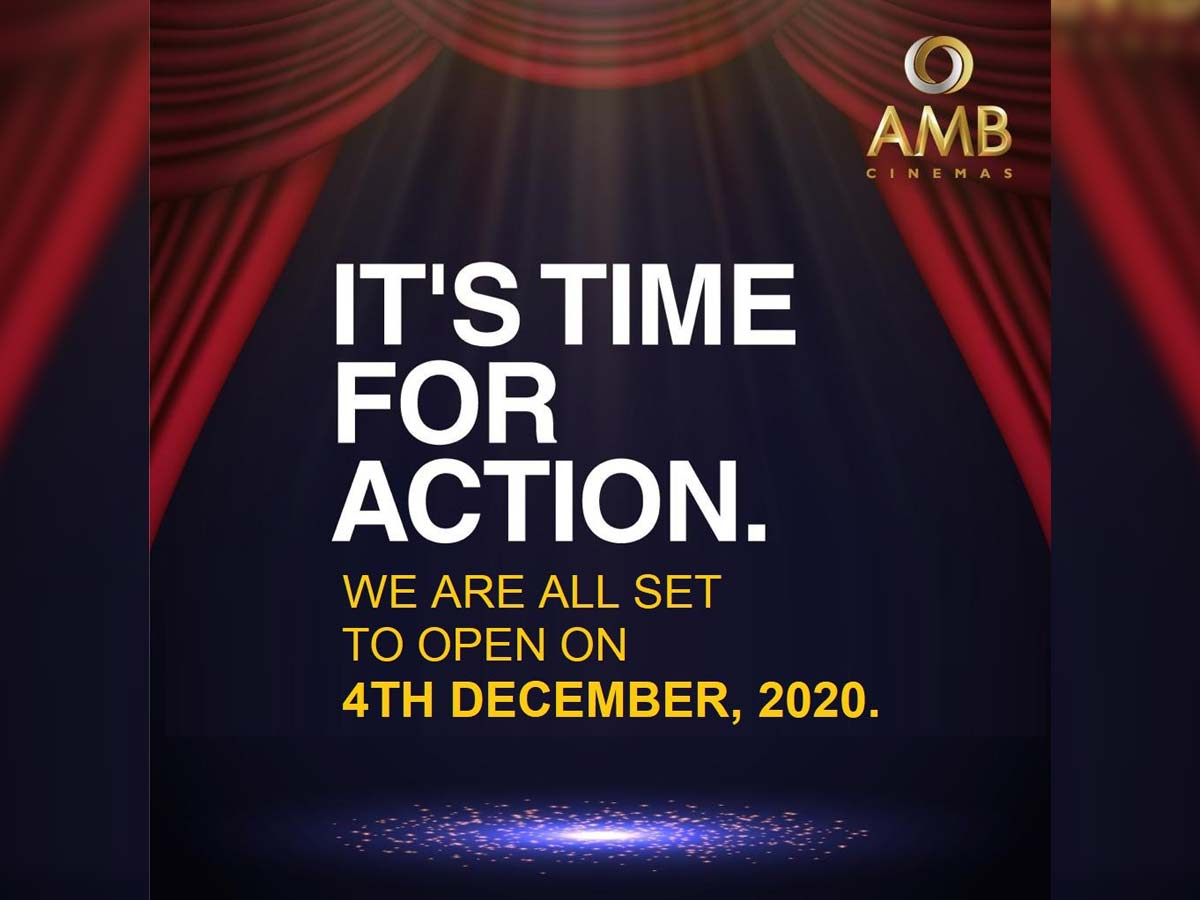AMB Cinemas all set to open on 4th December