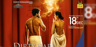 Dirty Hari Poster on Metro Pillar in Hyderabad, Case filed against Producer