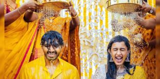 Haldi ceremony of Niharika and Chaitanya