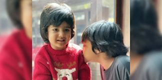 Jr NTR kids Abhay and Bhargava are kissing each other