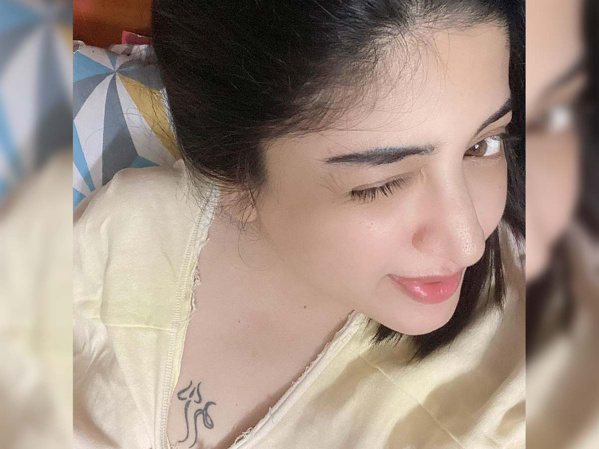 Shameless Poonam Kaur flaunts trishul tattoo on chest