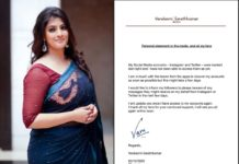 Varalaxmi Sarathkumar Twitter & Instagram accounts hacked