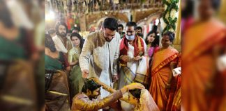 Varun Tej blesses Niharika and Chaitanya