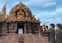 Chiranjeevi shares video of Amazing temple town set : Acharya