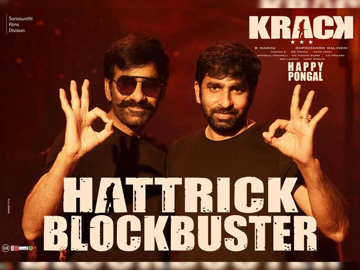 It's a Hattrick Blockbuster for Ravi Teja and Gopichand Malineni