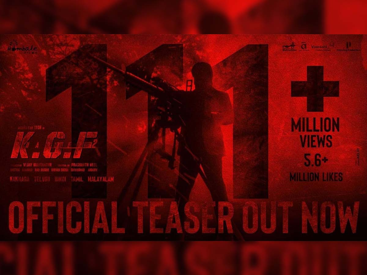 KGF Chapter 2 teaser beats Hollywood biggies in just 2 days