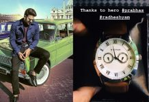 Kind hearted Prabhas gifts wristwatches to Radhe Shyam team