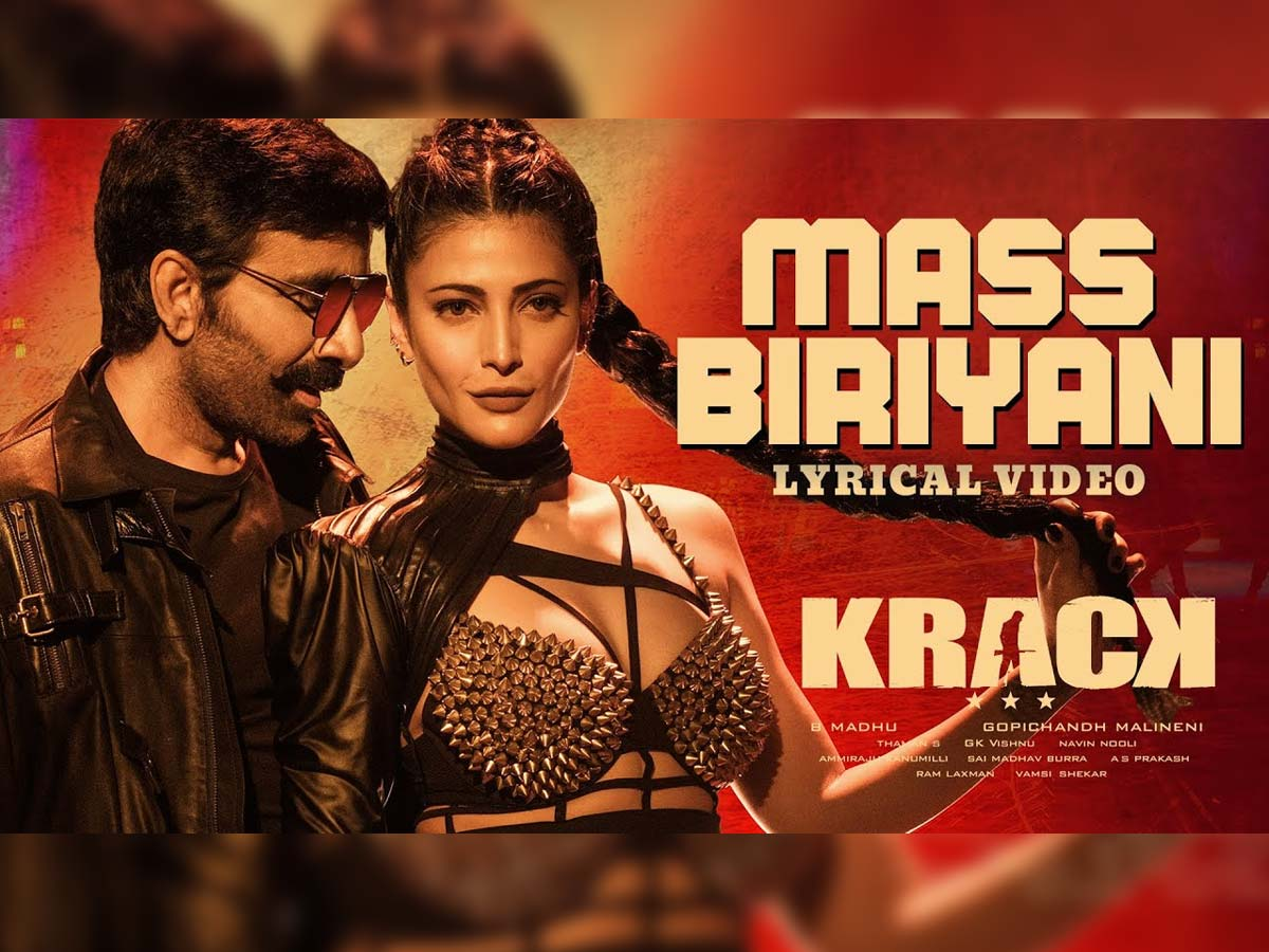 Krack: Mass Biriyani song is delicious