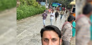 Nithiin completes Tirumala steps in 2.20 hrs