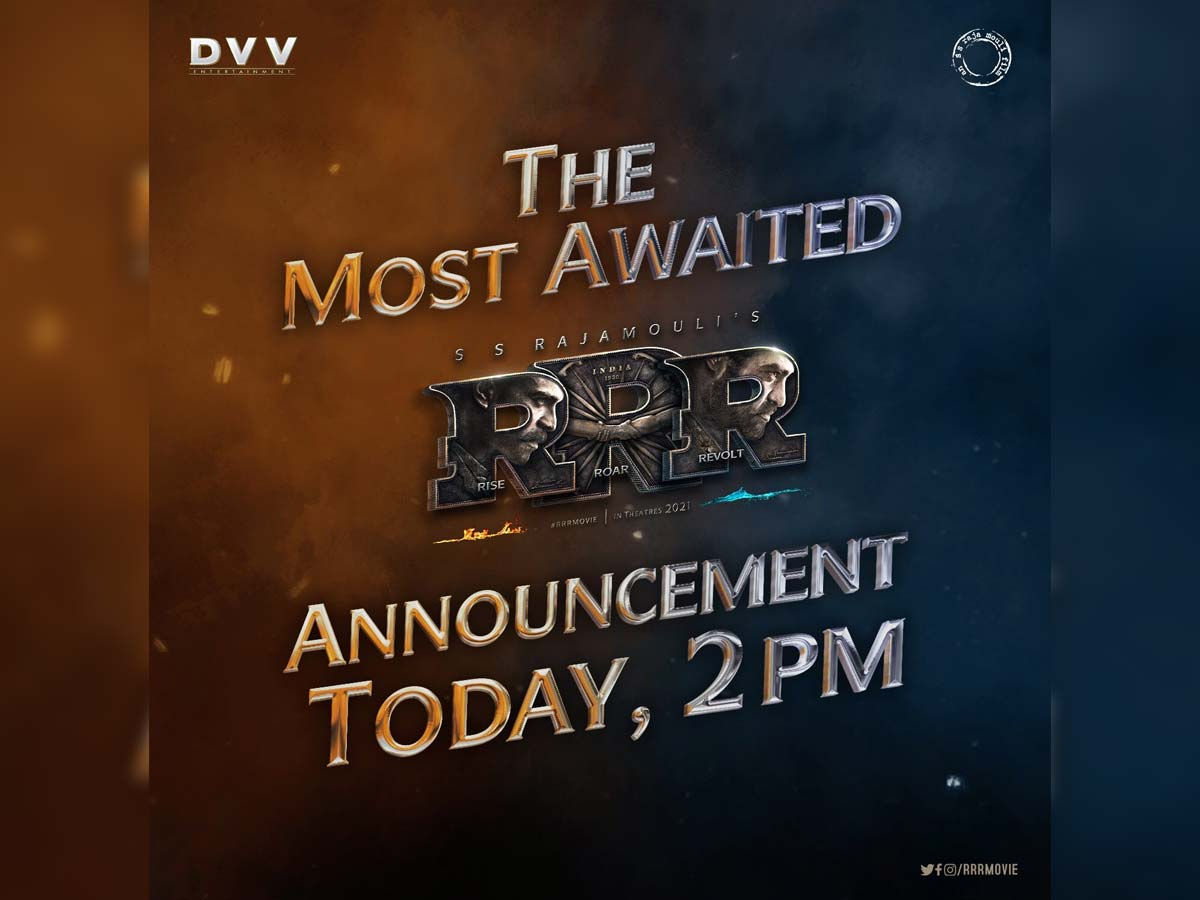 RRR special update in few hours @ 2 pm
