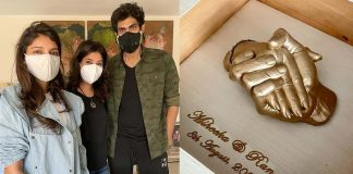 Rana Daggubati and Miheeka gift themselves hand impressions