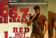 Red movie 1stDay AP/TS Box Office Collections