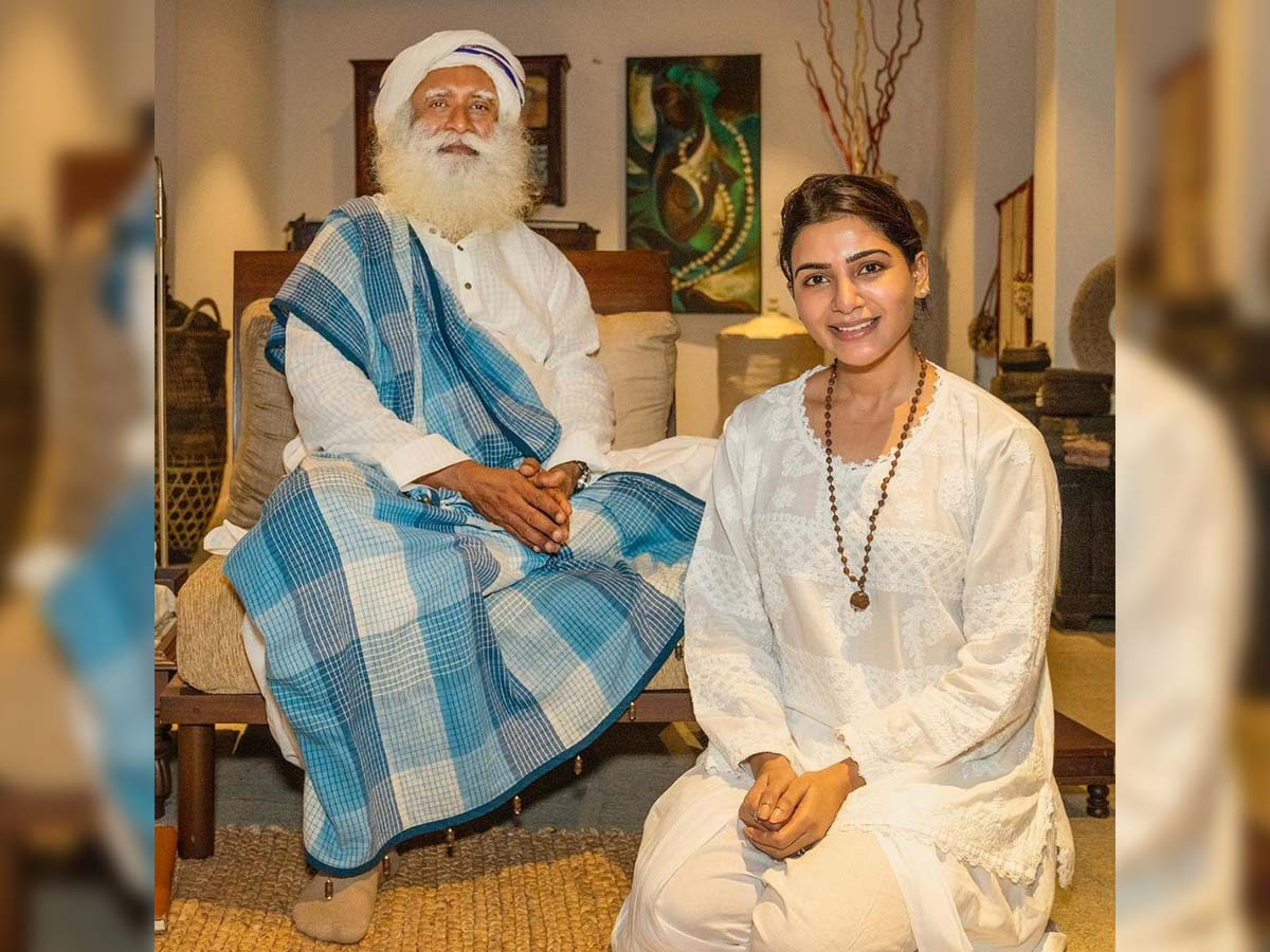 Samantha meets Sadhguru
