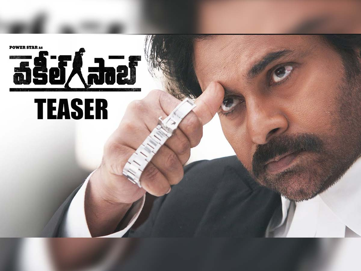 Vakeel Saab teaser packed with Pawan Kalyan solid punch and swag