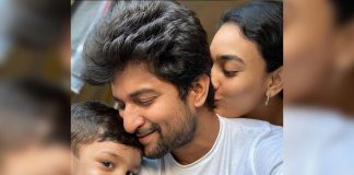 Wife Anjana kisses Nani