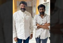 Balakrishna enjoys screening of Uppena, poses with Buchi Babu Sana