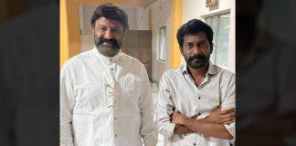 Balakrishna enjoys screening of Uppena, poses with Buchi Babu Sana