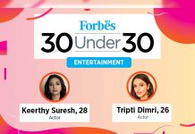 Keerthy Suresh in Forbes 30 Under 30