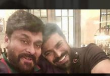Acharya Small photo glimpse of Chiru and Charan together